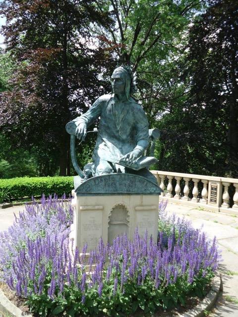 Bronze Of Dante Alighieri In Italian Cultural Garden