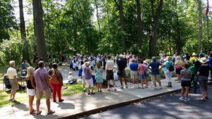crowd at garden